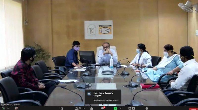 कोविड के समय समर्पण भाव के लिए एसजीपीजीआई के प्रत्येक स्वास्थ्य कर्मी की मंत्री ने की प्रशंसा